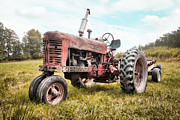 Timeless Design Photo Prints - Farmall Tractor Dream - farm machinary - Industrial decor Print by Gary Heller