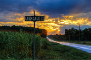 Cedarburg Prints - Farmdale Road Print by Anna-Lee Cappaert