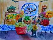 Swiss Painting Originals - Farmers Market by Beverley Harper Tinsley