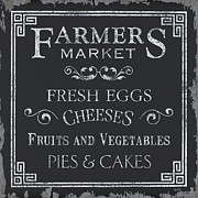 Sign Painting Prints - Farmers Market Print by Debbie DeWitt