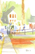 Greens Paintings - Farmers Market II  by Kip DeVore