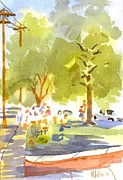 Greens Paintings - Farmers Market III by Kip DeVore
