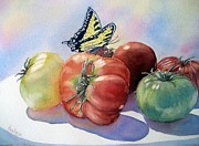Tomatoes Prints - Farmers Market Print by Patricia Pushaw
