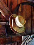 Barn Posters - Farmers Straw Hats Poster by Susan Savad