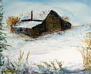Marie Bergman - Farmhouse and Snowfields