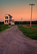 Farmhouse On Gravel Road Print by Jill Battaglia