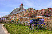 Carriage Photo Posters - farmhouse on Jersey Poster by Joana Kruse