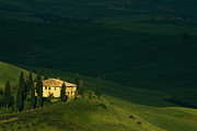 Tuscan Hills Photos - Farmhouse Tuscan by Andrew Soundarajan
