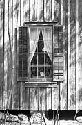 Board And Batten Siding Framed Prints - Farmhouse Window Framed Print by Lynn Palmer