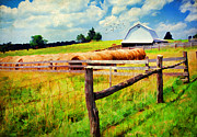 Old Country Roads Prints - Farming Print by Darren Fisher