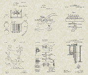 Technical Art Drawings Prints - Farming Patent Collection Print by PatentsAsArt