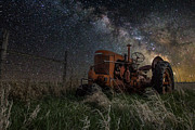Tractor Framed Prints - Farming the Rift Framed Print by Aaron J Groen