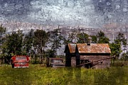 Dilapidated Digital Art - Farmyard Faux Painting by Vickie Emms