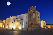 Nigel Hamer Prints - Faro Cathedral At Night Print by Nigel Hamer