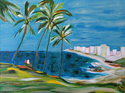 Mediative Paintings - Farol da Barra by Fatima Neumann