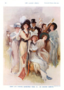 Fashion At Ascot Races 1911 1910s Uk Cc Print by The Advertising Archives