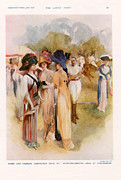 Featured Acrylic Prints - Fashion At Polo Match 1911 1910s Uk Cc Acrylic Print by The Advertising Archives