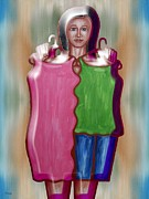 Pop Greeting Cards Mixed Media - Fashion Dilemma by Patrick J Murphy