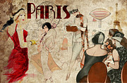 Paris Digital Art Posters - Fashion in Paris Poster by Greg Sharpe