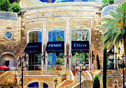 Italian Shopping Posters - Fashion Vegas Style Poster by Barbara Chichester
