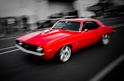 Beach Hop Framed Prints - Fast Camaro Framed Print by Phil 