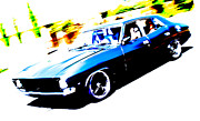 Ford Custom V8 Posters - Fast Ford Falcon Poster by Phil