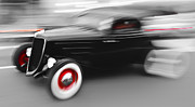 Beach Hop Framed Prints - Fast Ford Hot Rod Framed Print by Phil 