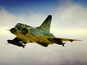 South African Prints - Fast Mirage III Print by Paul Job