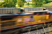 Bill Kesler Prints - Fast Train Print by Bill Kesler