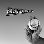 Baseball Pitchers Posters - Fastball Poster by Bill  Wakeley