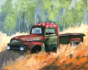 Rusty Truck Paintings - Fat Albert by Julia Grundmeier