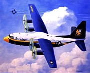 F-18 Painting Prints - Fat Albert Print by Stephen Roberson