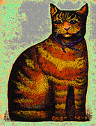Dale Michels Framed Prints - Fat Cat Framed Print by Dale Michels