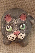 Black Ceramics Originals - Fat Cat by Debbie Limoli