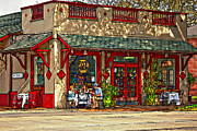 Street Photography Digital Art Prints - Fat Hen Grocery painted Print by Steve Harrington
