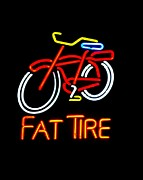 Fat Tire Prints - Fat Tire 2 Print by Kelly Awad