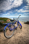 California Seascape Posters - Fat Tire Poster by Peter Tellone