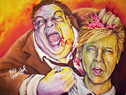 Saturday Night Live Paintings - Fat Zombie in a Little Coat by Mike Vanderhoof / KINGMIKEV.com by Michael Vanderhoof