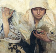 Fate Paintings - Fate by Alphonse Mucha