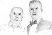 Father And Son Drawings - Father And Son by Bota Daniel