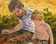 1976 Paintings - Father and Son by Lutz Baar
