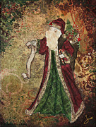 Beautiful Artwork Mixed Media - Father Christmas A Christmas Mixed Media artwork by Janelle Nichol