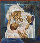 Egg Tempera Digital Art Prints - Father Print by Mary jane Miller