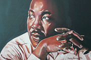 Martin Luther King Jr Paintings - Father of Dreams by Belle Massey