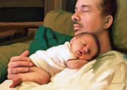 New Baby Posters - Fathers Day Poster by Dorinda K Skains