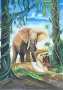 Faune D'afrique Centrale 01 Print by Emmanuel Baliyanga