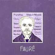 Composer Digital Art - Faure by Paul Helm
