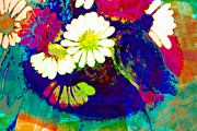 Fauvist Art Prints - Fauvism Flowers Print by Barbara Griffin