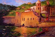 Italian Sunset Originals - Fauvo Vernazza by R W Goetting