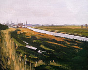 Paul Mitchell Art - Faversham Creek Distant by Paul Mitchell